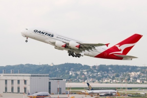 QANTAS A380.  Image from Qantas heritage Collection.