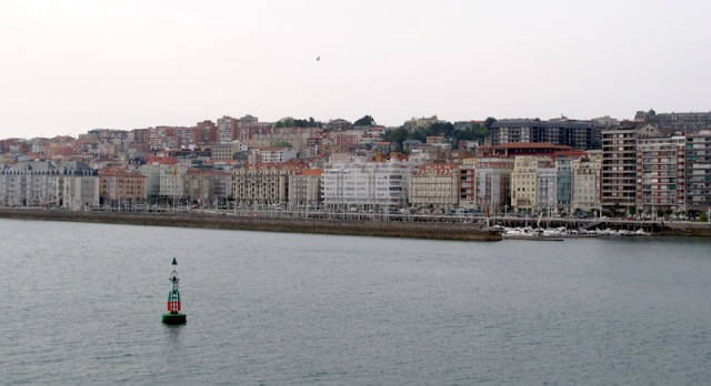 Santander cityscape from the deck of the Pont-Aven the afternoon we arrived.