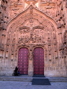 Entrance to the New Cathedral built in the 16th century.