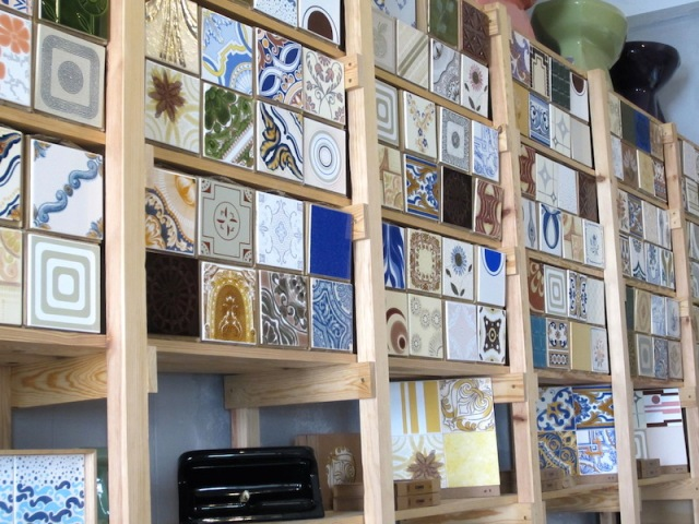 A few of the thousands of tiles for sale.