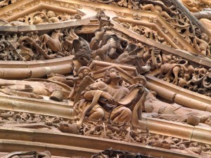 Look at the complexity of the carvings.  Enlarge the image and have a closer look.
