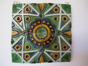 My first choice.  Each of the four tiles in this group was approximately 150mm square.