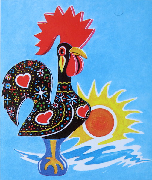 Rooster on a tile.