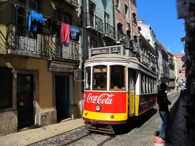 A typical narrow way in Lisbon.