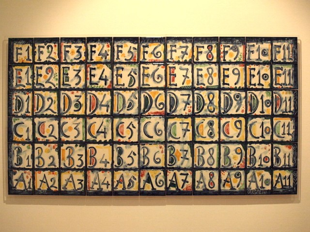 With my interest in calligraphy I had to include this one. Each letter/number was a separate tile.