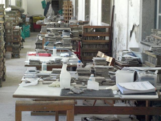 The tile restoration workshop.