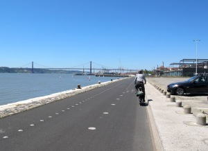 Foreshore bike path.