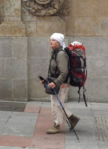 One of the many pilgrims on the way along the Via de la Plata.