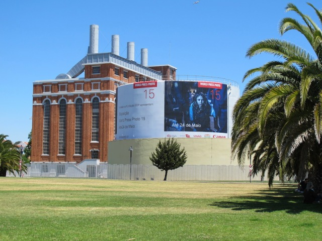 Restored power station along the way.