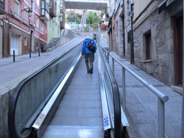 An example of a smart city…moving footways and escalators in the open. This is the first time we have seen moving footpaths and escalators exposed to the elements.