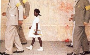 The problem we all live with by Norman Rockwell.