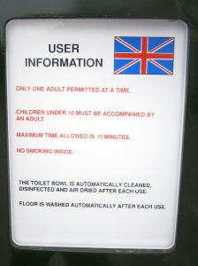 Loo use regulations.