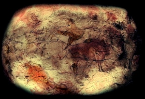 Prehistoric paintings in the Cave of Altamira. Image credit: Jose-Manuel Benito via Wikipedia.