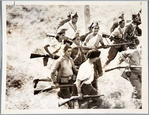 Young republicans plunging towards death attacking a Nationalists position near Madrid in 1936.  Image credit: In the public domain via Wikipedia.