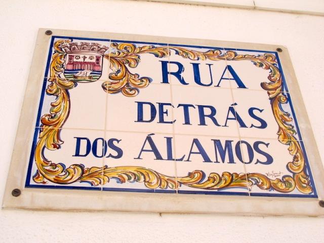 Tile street sign.