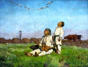 Bociany (Storks), a painting by Jozef Chelmonski (1849-1914). Image credit: taken from Wikipedia who consider the image in the public domain.