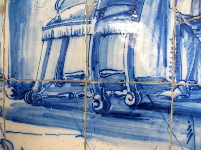 Detail of the chair leg.