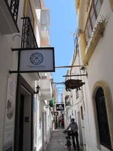 One of the many narrow alleyways in Tarifa old town.