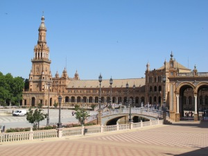 The Plaza de Espana under full sun.