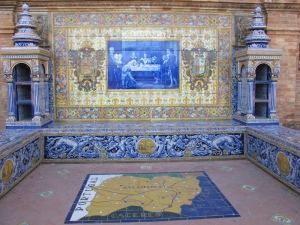 A tile map at ground level and the backdrop.