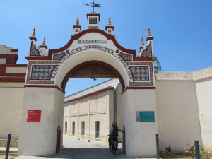 The grand entrance to the MANUFACTURA DE PRODUCTOS CERAMICOS, now the Andalusian Centre for Contemporary Arts.
