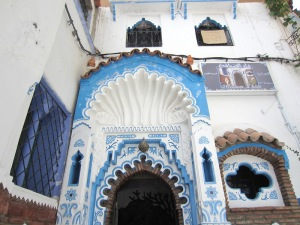 Moorish entrance into a small hotel. The reverse scallop shell arch is very impressive.