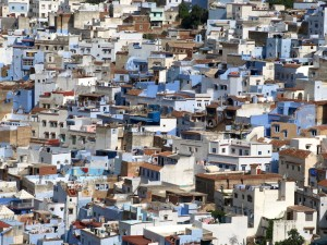 Almost 100% of the Chefchaouen medina is developed. Close living is something the locals are accustomed to.