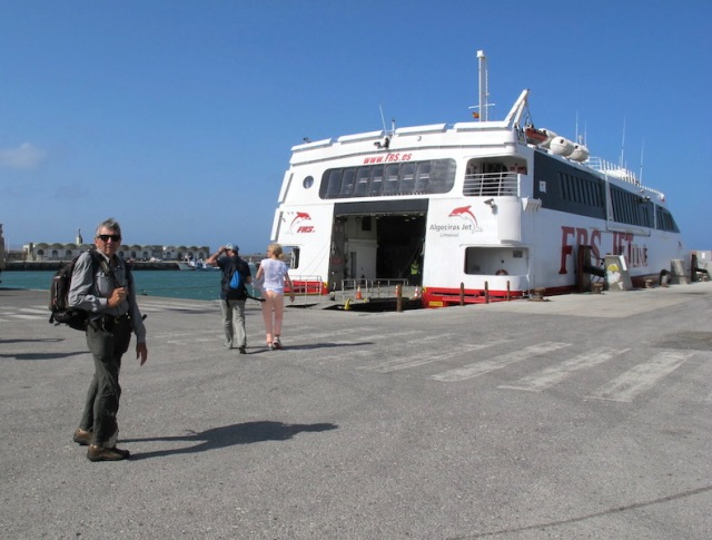 The ferry from Tarifa Spain to Tangier Morocco.