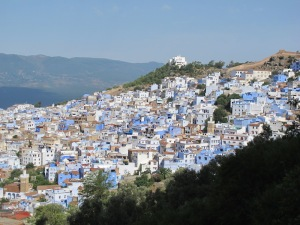 Chefchaouen, the town with shades of blue.