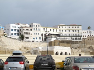 Hotel Continental Tangier sitting atop the old medina wall.