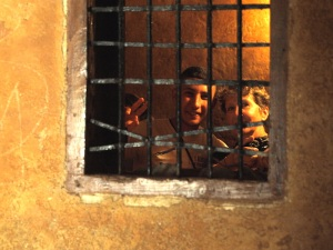 Bev and Omar sharing a cell in the Kasbah dungeon.