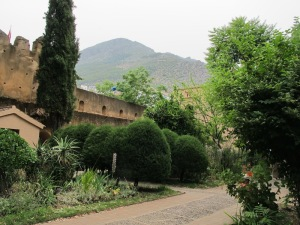 The garden inside the Kasbah.