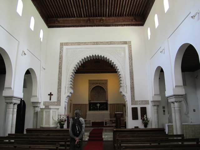 Moorish style interior of St Andrews church.