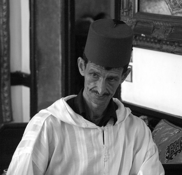 The fez-topped drummer.