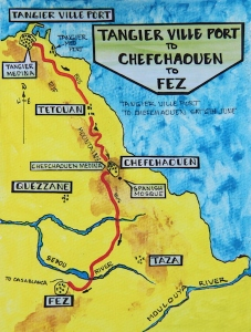 3 map Tangier to Chefchaouen