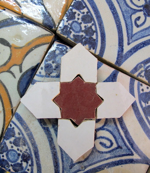 Small hand cut tiles.