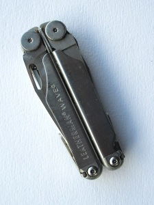 Leatherman in its folded position.