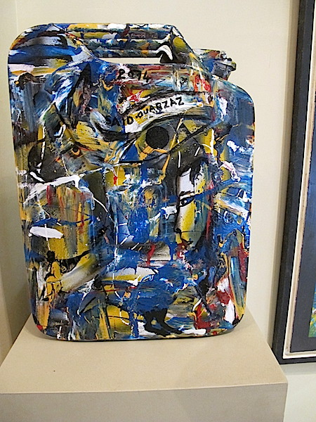 A jerrycan of art in the Galerie Conil.