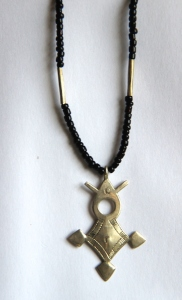 The Tuareg Agadez or Southern Cross with glass beads.