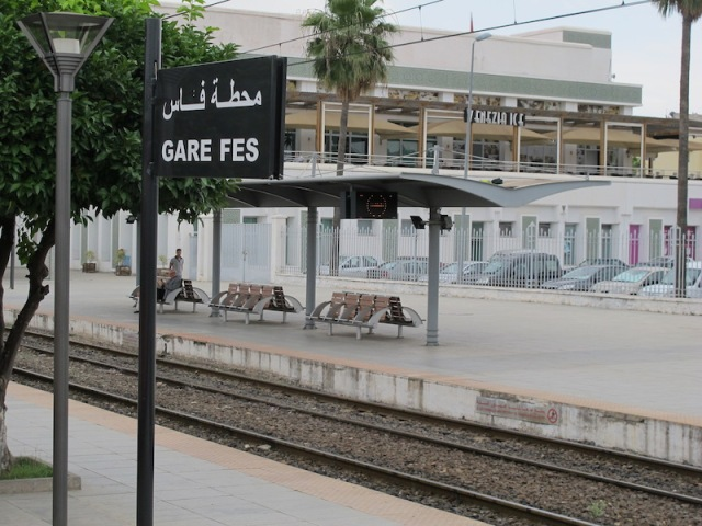 Fez railway platform.