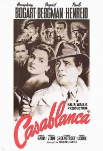 Poster for the film Casablanca. Image credit: Warner Brothers, artwork by Bill Gold.