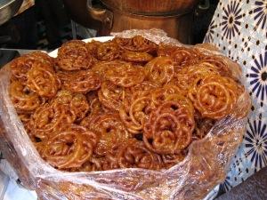 Chebakia pastry.