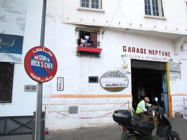 Garage Neptune, next door to Rick's Café.