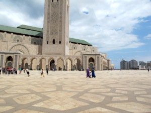 The vast plaza area of the Hassan ll Mosque.