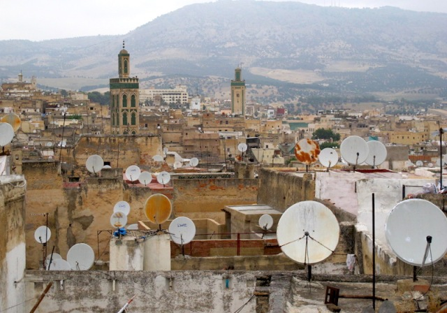 Looking over the Fez medina and out to the foothills of the Atlas Mountains.