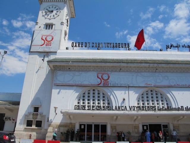 Casablanca Railway Station.