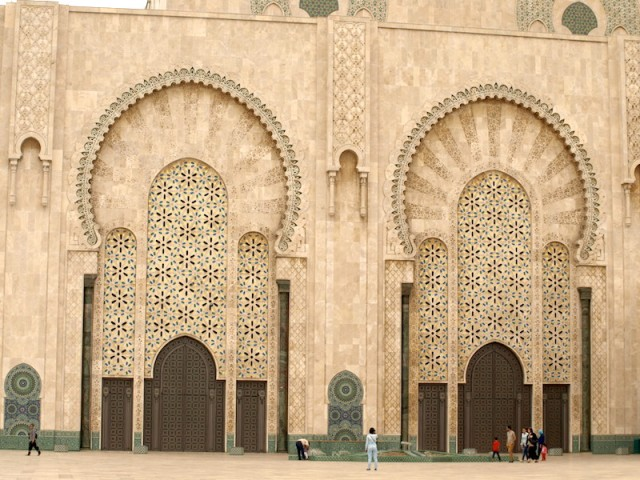 Hassan ll Mosque main entrance.