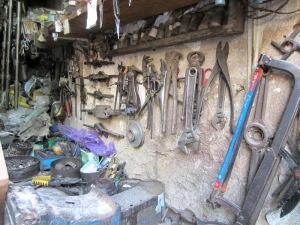 The gunsmith's tools close at hand. gunsmith's tools close at hand.