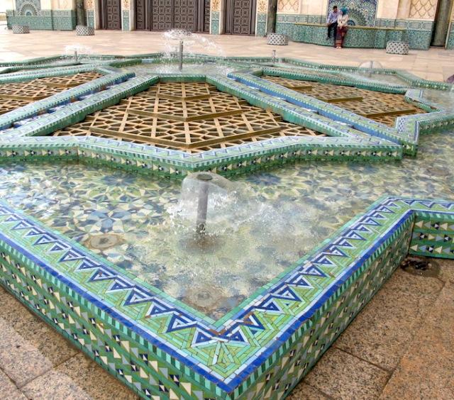 Tiled fountain.