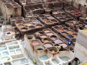 The tannery vats.